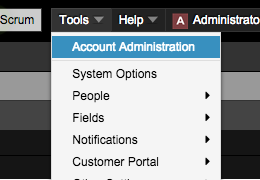 Access the Manage Account section